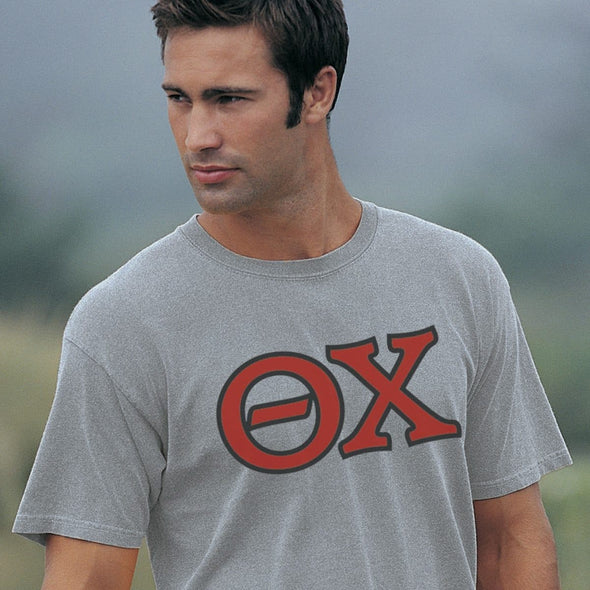 Theta Chi Heather Gray Greek Letter Tee
