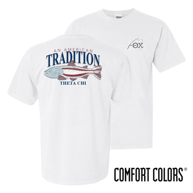 Theta Chi American Trout Comfort Colors Tee