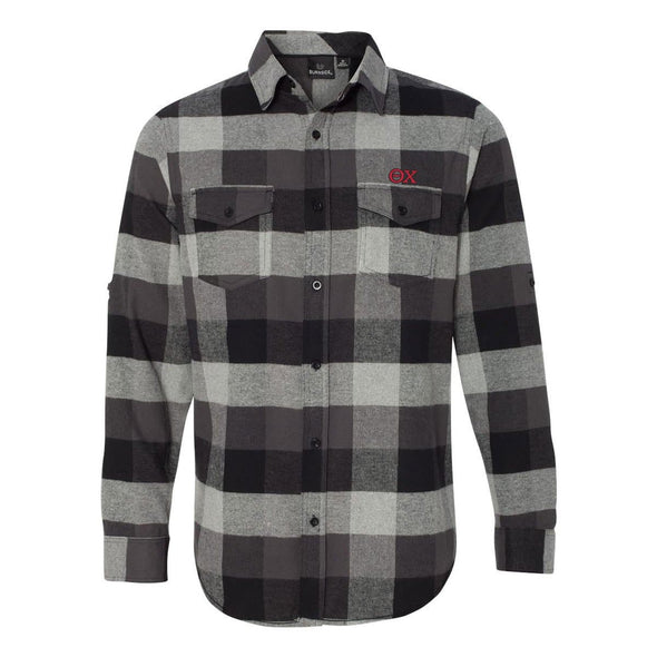 Clearance! Theta Chi Black Plaid Flannel Shirt