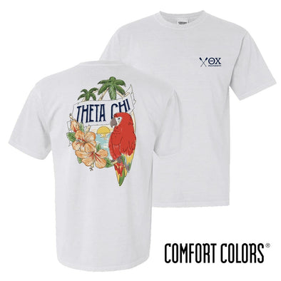 New! Theta Chi Comfort Colors Tropical Tee