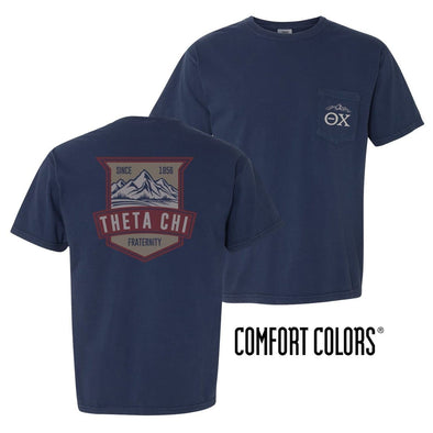 Theta Chi Comfort Colors Mountain Pocket Tee