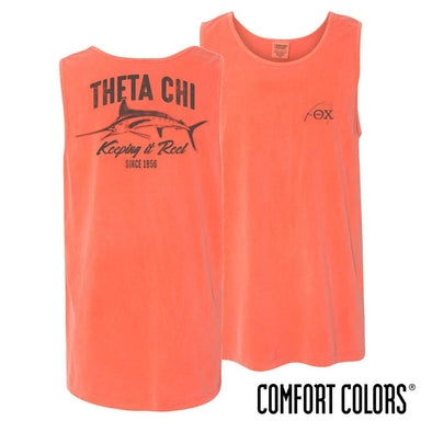 Theta Chi Keep It Reel Comfort Colors Tank