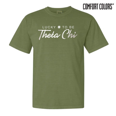 Theta Chi Green Comfort Colors Lucky Tee