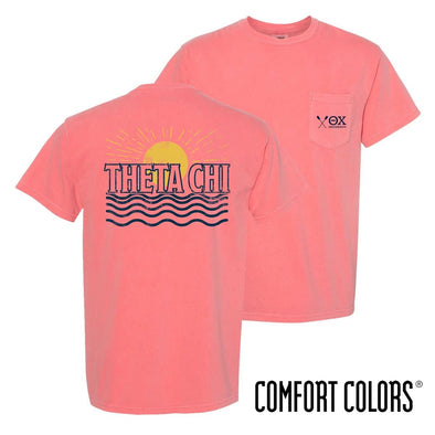 New! Theta Chi Comfort Colors Short Sleeve Sun Tee