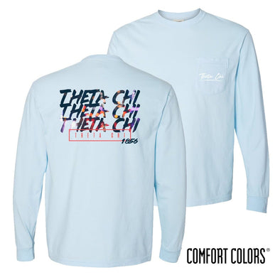 Theta Chi Comfort Colors Chambray Long Sleeve Urban Tee