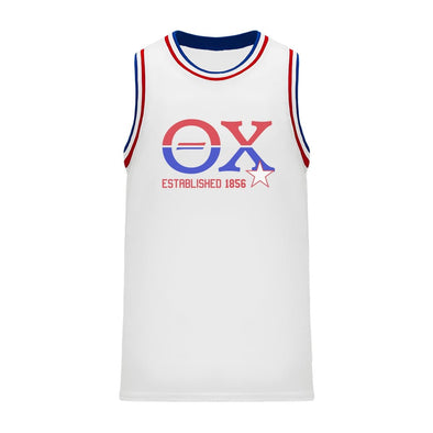 New! Theta Chi Retro Block Basketball Jersey