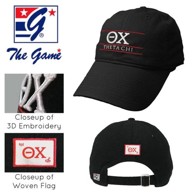 Clearance! Theta Chi Black Ultimate Hat by The Game®