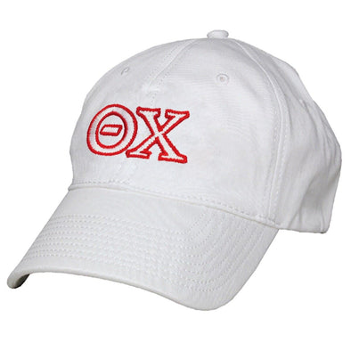 Theta Chi White Greek Letter Adjustable Hat by The Game®
