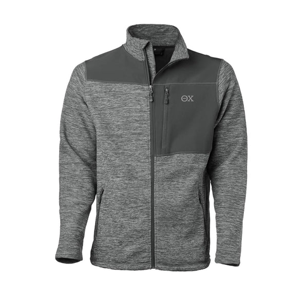 Clearance! Theta Chi Gray Thermo Fleece Jacket
