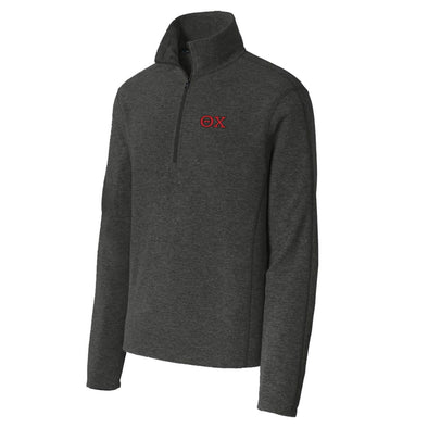Theta Chi Charcoal 1/4-Zip Microfleece Jacket