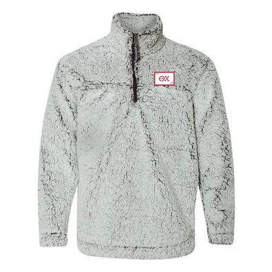 Theta Chi Flag Sherpa 1/4 Zip Pullover