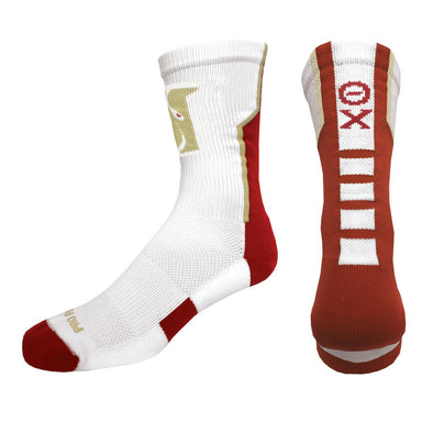 Sale! Theta Chi White Performance Socks