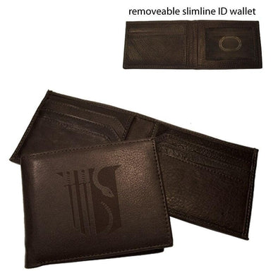 Sale! Theta Chi Brown Leather Shield Bi-Fold Wallet