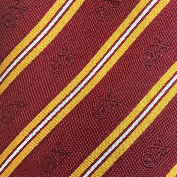 Sale! Theta Chi Red and Gold Striped Silk Tie