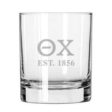 Theta Chi Engraved Glass