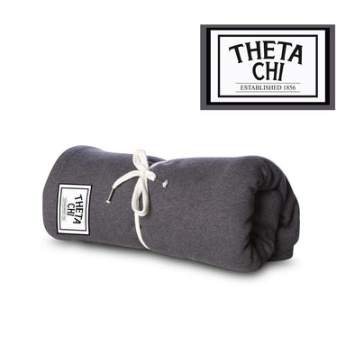 New! Theta Chi Sewn Patch Blanket