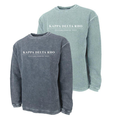 New! KDR Charles River Corded Crew Sweatshirt