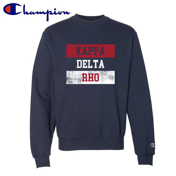 KDR Red White and Navy Champion Crewneck