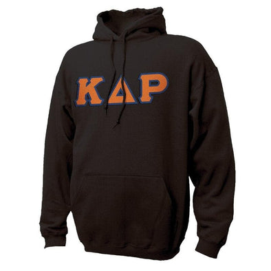 KDR Black Hoodie with Sewn On Greek Letters