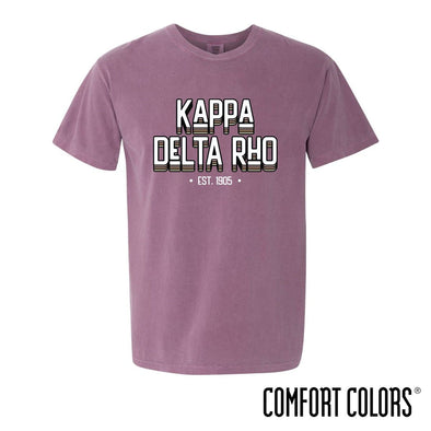 New! KDR Comfort Colors Short Sleeve Berry Retro Tee