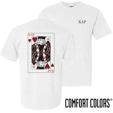 New! KDR Comfort Colors White King of Hearts Short Sleeve Tee