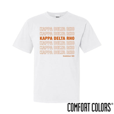 KDR Comfort Colors White Thank You Bag Tee