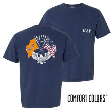 New! KDR Comfort Colors Short Sleeve Navy Patriot tee
