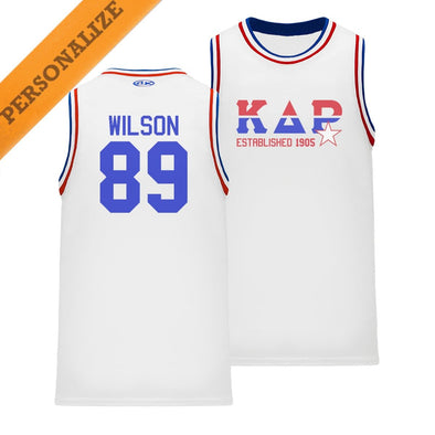 New! KDR Personalized Retro Block Basketball Jersey