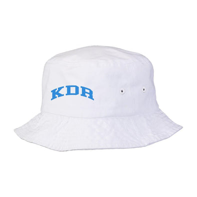 New! KDR Title White Bucket Hat