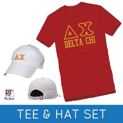 Sale! Delta Chi Tee & Hat Gift Set