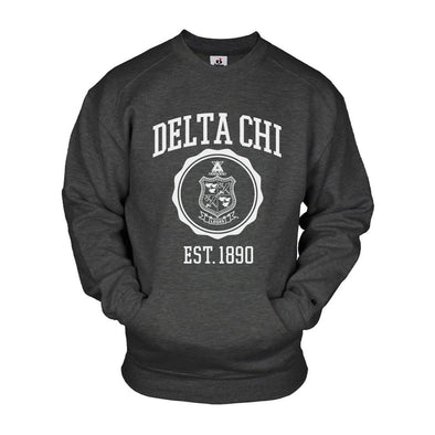 Delta Chi Pocket Crew Sweatshirt