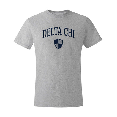 New! Delta Chi Heather Gray Symbol Tee
