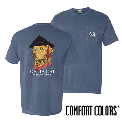 New! Delta Chi Comfort Colors Retriever Grad Tee