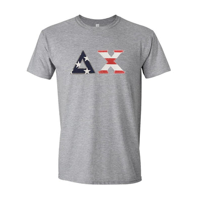 Delta Chi Stars & Stripes Sewn On Letter Tee