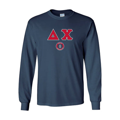 Delta Chi Navy Vintage Long Sleeve Tee