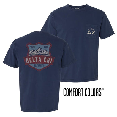 Delta Chi Comfort Colors Mountain Pocket Tee