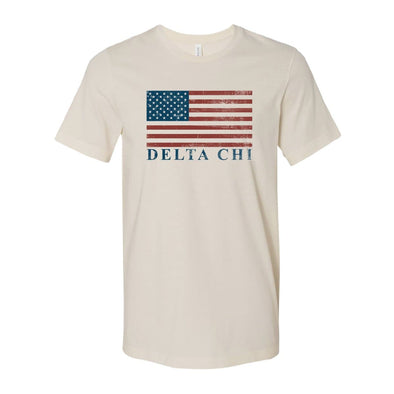 Delta Chi Natural Retro Flag Tee