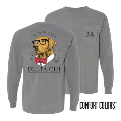 Delta Chi Comfort Colors Campus Retriever Pocket Tee