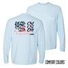 Delta Chi Comfort Colors Chambray Long Sleeve Urban Tee