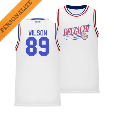 New! Delta Chi Personalized Retro Swish Basketball Jersey
