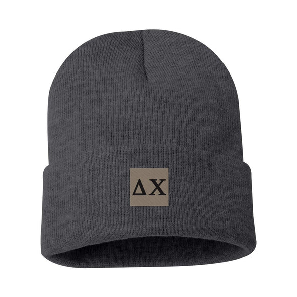 Delta Chi Charcoal Letter Beanie