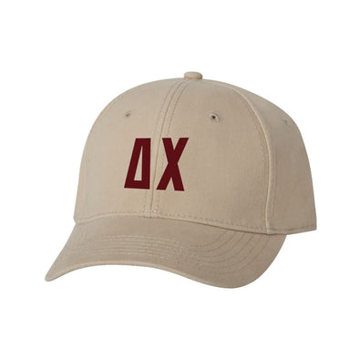 Delta Chi Structured Greek Letter Hat