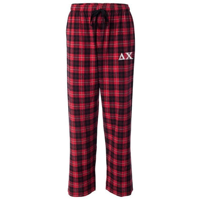 Delta Chi Red Plaid Flannel Pants