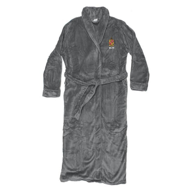 Delta Chi Personalized Charcoal Ultra Soft Robe
