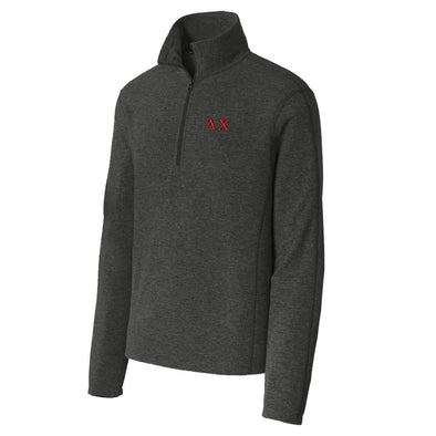 Delta Chi Charcoal 1/4-Zip Microfleece Jacket