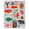 New! Delta Chi Sticker Sheet