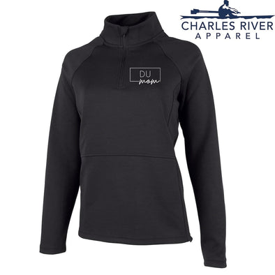 New! Delta Upsilon Charles River Mom Black Quarter Zip