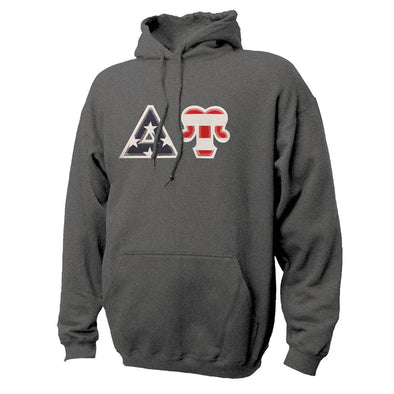 DU Stars & Stripes Sewn On Letter Hoodie