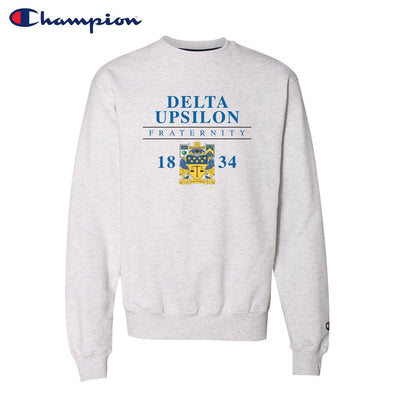 New! Delta Upsilon Classic Champion Crewneck