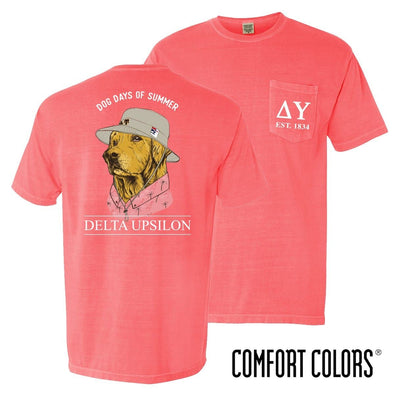 New! Delta Upsilon Comfort Colors Boonie Retriever Tee